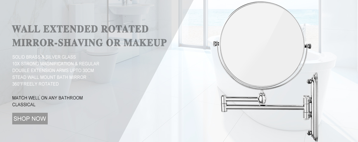 10x 1x Magnifying Lighted Shave Makeup Mirror Hardwired